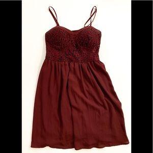Xhilaration Maroon Party dress